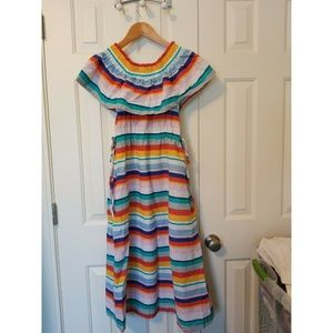 Anthropologie Dresses - New Anthropologie Striped Off-The-Shoulder Dress